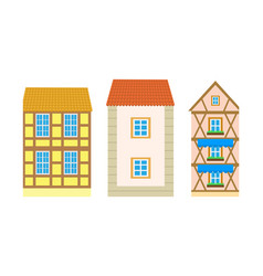 exterior residence or villa building vector image