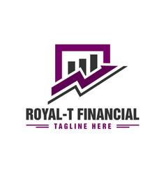 Financial business traffic logo vector