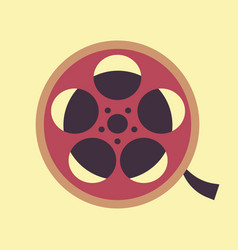 Flat modern design with shadow reel of film vector