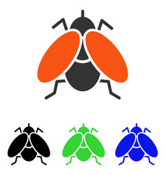 Fly flat icon vector
