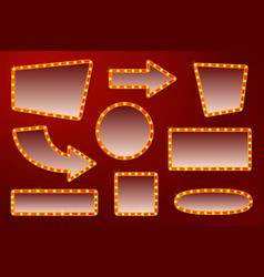 glowing signs for circus movie etc vector image