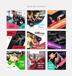 Gym social media marketing vector