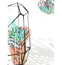 Hand drawn abstract graphic creative vector