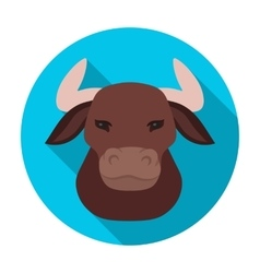 Head of bull icon in flat style isolated on white vector