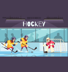 Ice hockey background vector