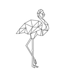 Image low poly flamingo isolated on white vector