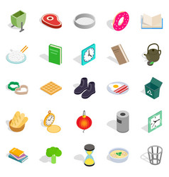 Inside icons set isometric style vector
