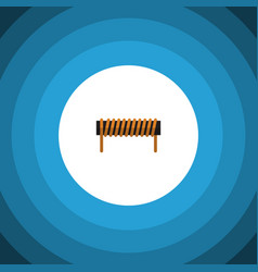 Isolated coil copper flat icon bobbin vector