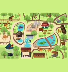 map a zoo park vector image