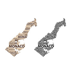 Map of monaco vector
