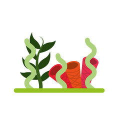 Marine seaweed sealife icon vector