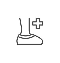 medical shoe covers line outline icon vector image