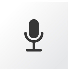 Microphone icon symbol premium quality isolated vector