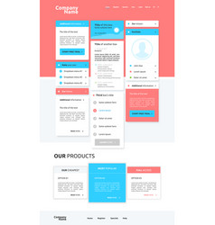 Modern website design for business vector