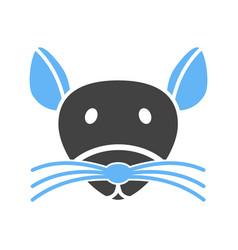 Mouse face vector