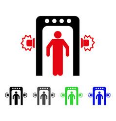 Passenger screening flat icon vector
