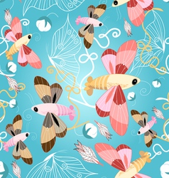 pattern of beautiful butterflies vector image