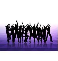 People dancing background vector