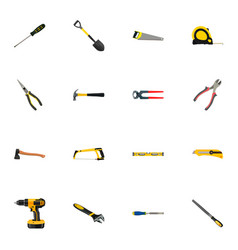Realistic electric screwdriver stationery knife vector
