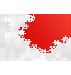 Red background puzzle jigsaw puzzle banner vector