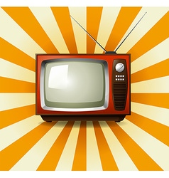 Retro television with starburst vector