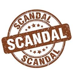 Scandal brown grunge round vintage rubber stamp vector