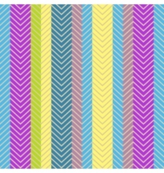 Seamless geometric pattern with Zig zag vector image