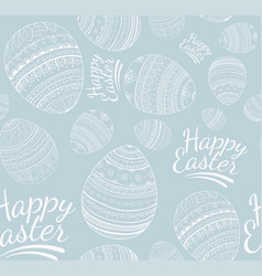 Seamless happy easter pattern vector