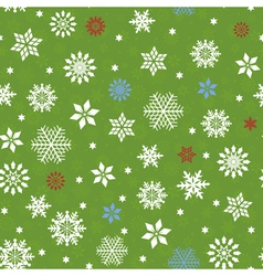 Seamless pattern with many snowflakes vector image vector image