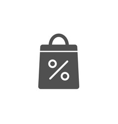 shopping bag simple icon supermarket buying sign vector image