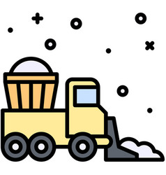 snow plow icon winter city related vector image