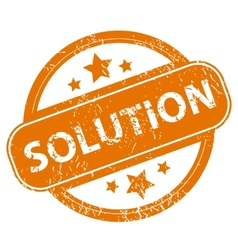 Solution grunge icon vector image