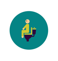 Stylish icon in color circle people diarrhea vector