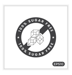 Sugar free icons can be used to label your product vector