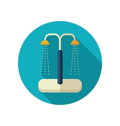 Summer beach pool shower flat icon Summer vector