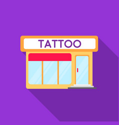 Tattoo salon building parlor icon flate single vector