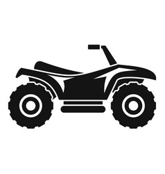 Terrain quad bike icon simple style vector