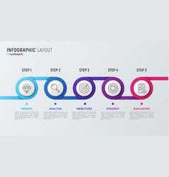 timeline chart infographic design for data vector image
