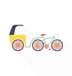 Trishaw vector image