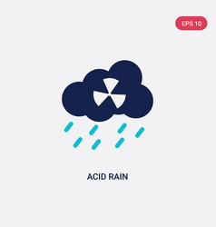 Two color acid rain icon from ecology vector