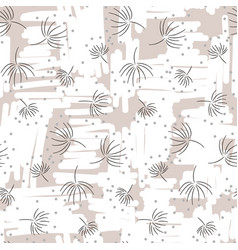 vintage light floral seamless pattern with hand vector image