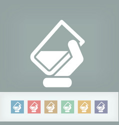 Water glass icon vector