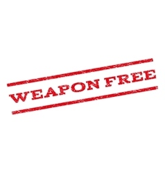 Weapon Free Watermark Stamp vector image