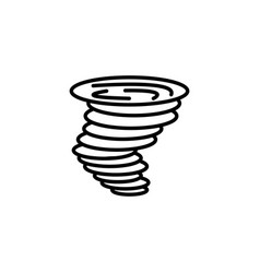 web icon tornado black on white background vector image