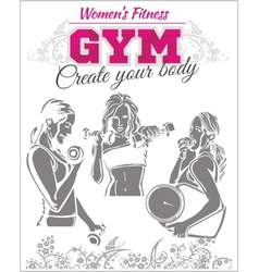 Womens Fitness GYM - stock vector