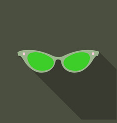 womens sunglasses icon with shadow on background vector image