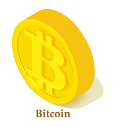 bitcoin icon isometric style vector image