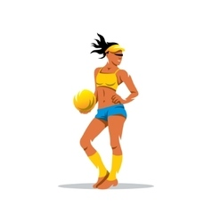 Beach volleyball player Cartoon vector image