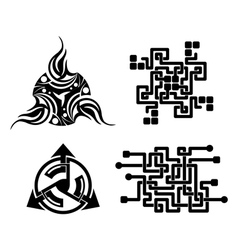 black elements for design - tattoo vector image