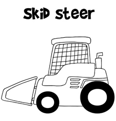 Collection skid steer hand draw vector